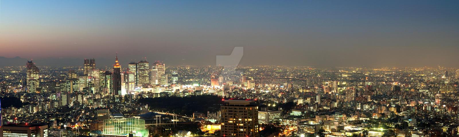 Shinjuku Tokyo Night Panorama by Keith-Killer
