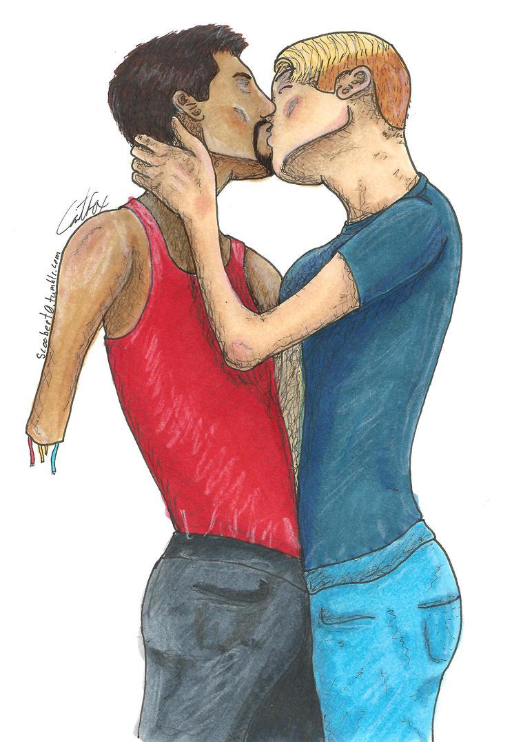 First Kiss by Scoobert0