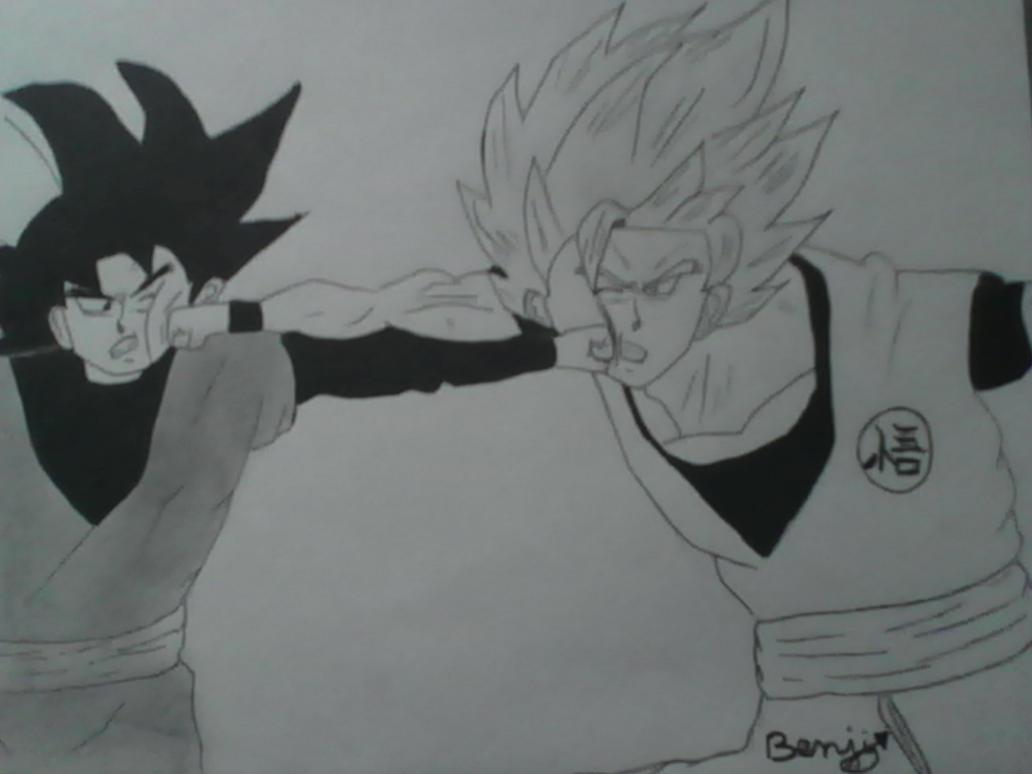 Draw Goku Super Saiyan 2 Vs Black Goku by ToboYou on DeviantArt