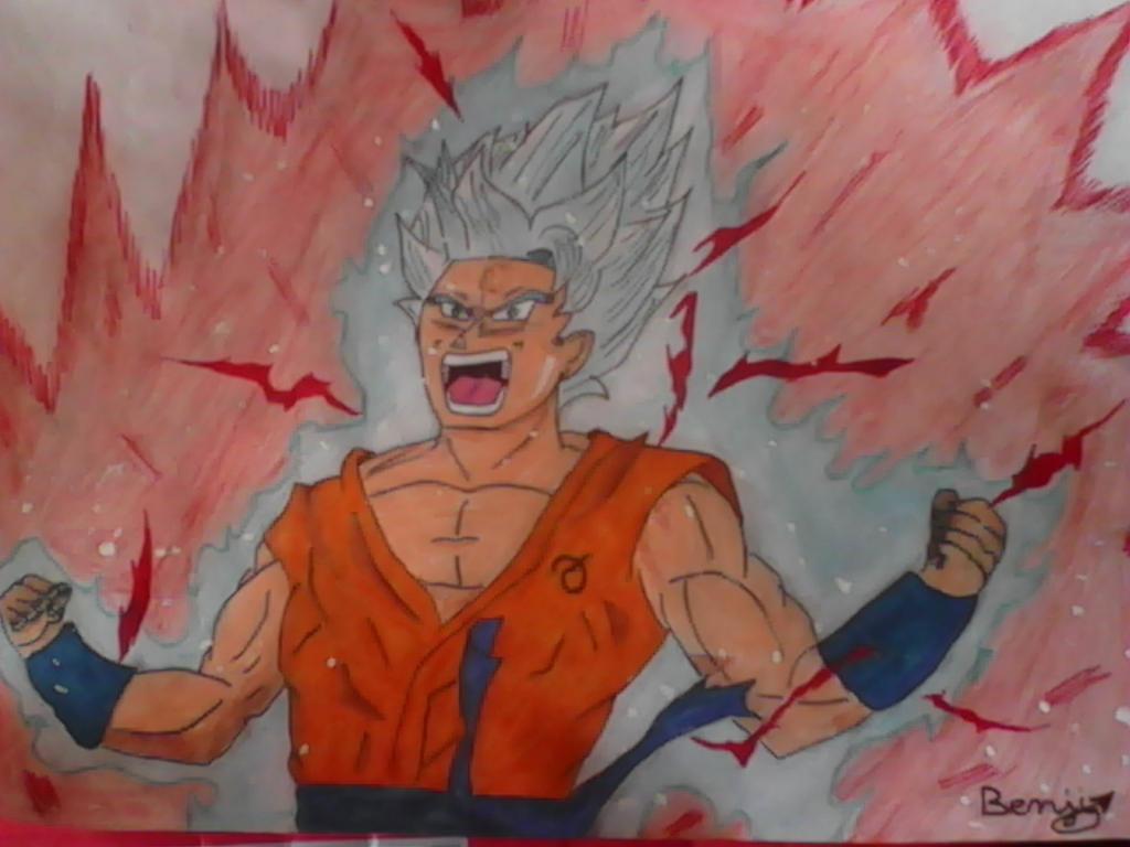 drawing goku super saiyan blue kaiokenx10 20 by toboyou