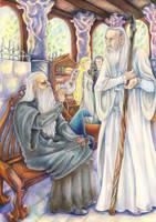 Of Gandalf and Saruman by Mieronna