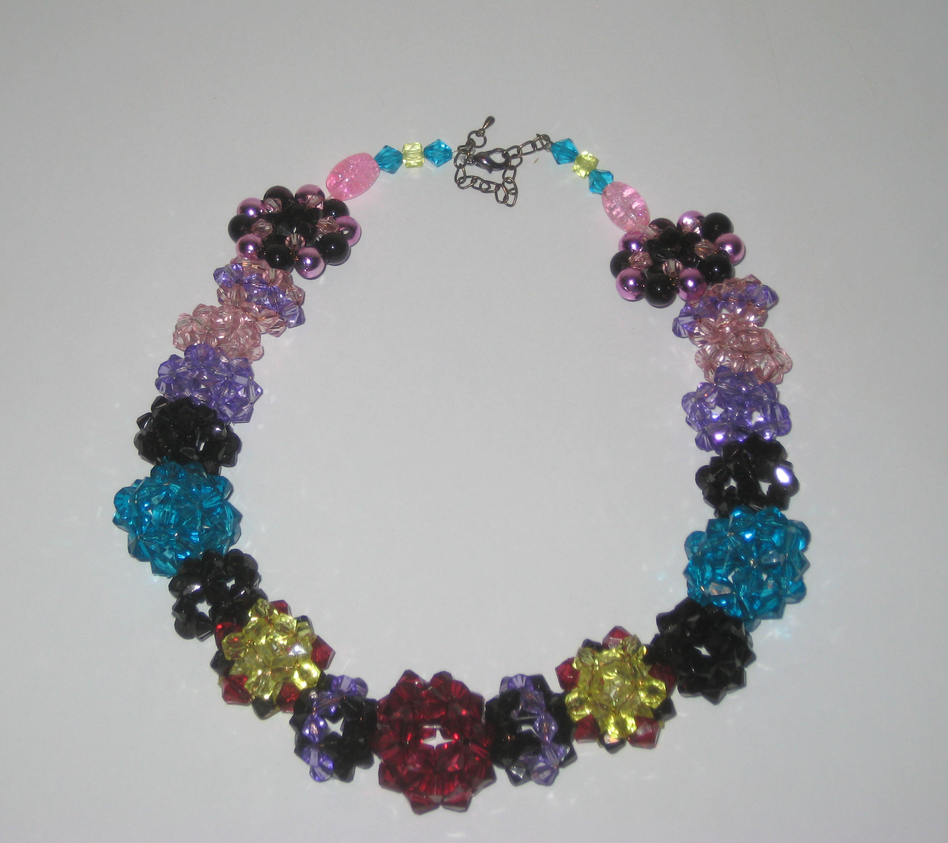 beaded beads crystal necklace by hope555 on deviantart