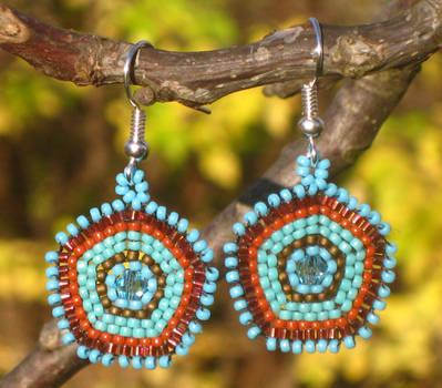 Pentagonal Earrings
