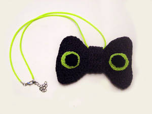 Toothless Inspired Knit Bow Tie Necklace