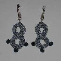Thread Crochet Infinity Earrings