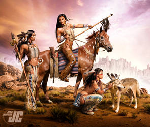 Native Warrior Women by Jeffach