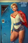Retro 80's Powergirl