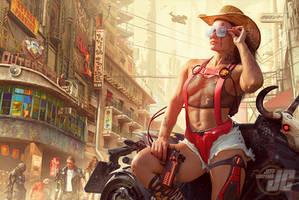 Cyberpunk Cowgirl