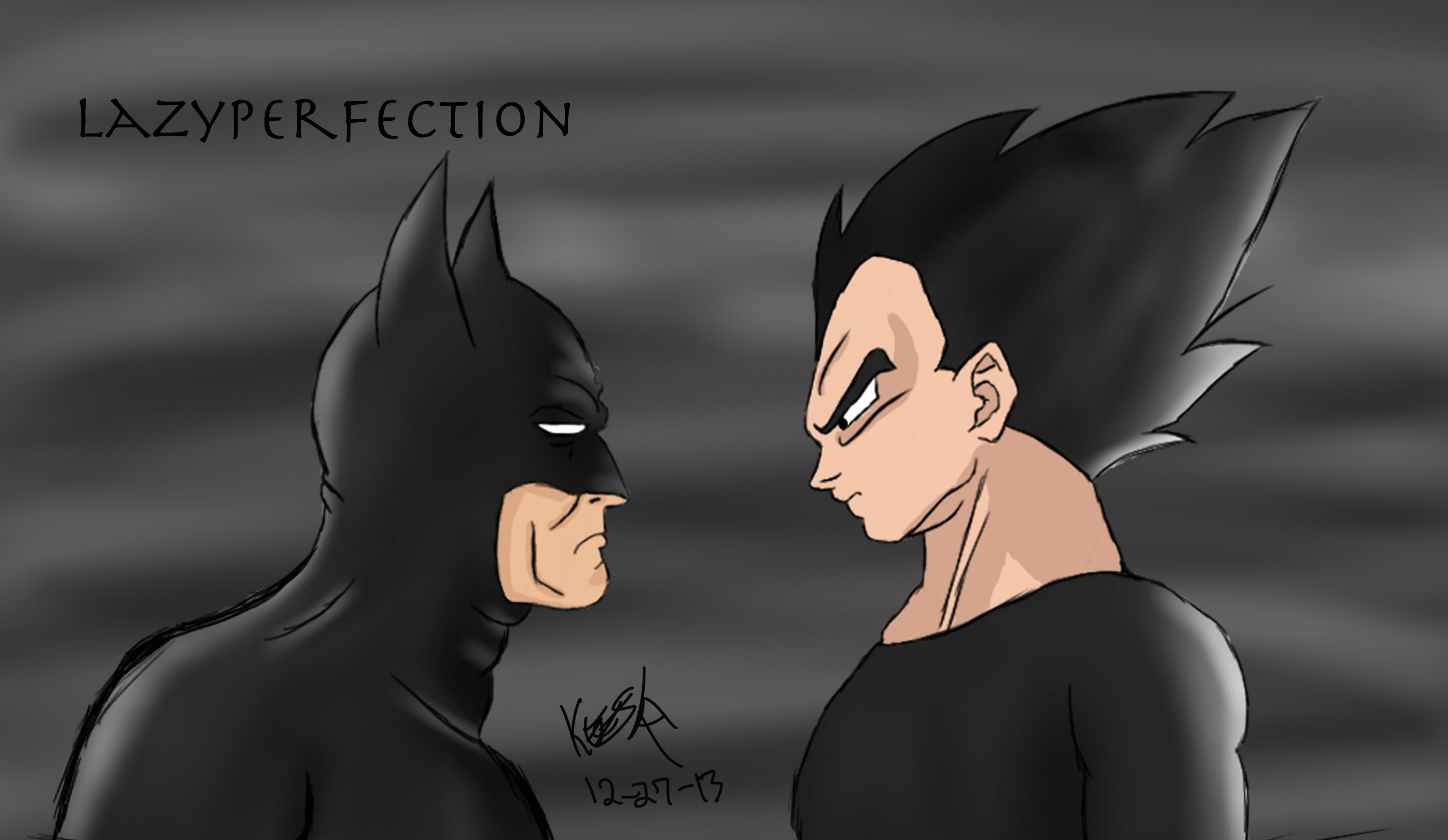 Batman VS Vegeta by LazyPerfection on DeviantArt