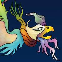 Tugrul Bird (Detail 1) Simurgh / Phoenix