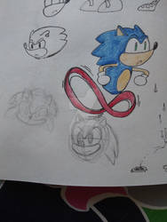 My attempt at drawing sonic