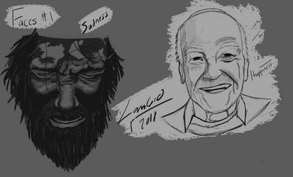 Emotions/Faces practice 1 by lambieV