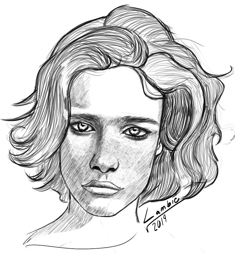 Loomis method sketch by lambieV