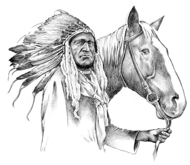 Indian chief by fabioaita on DeviantArt