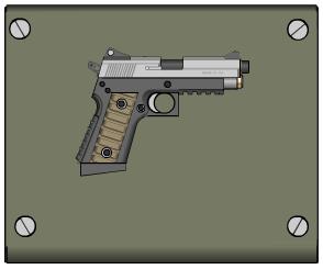 Cal. .45 Pistol by crimsonthunder1995
