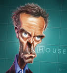 caricature dr house