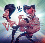 Bruce Lee VS wolverine by AnthonyGeoffroy