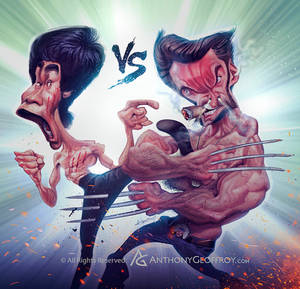 Bruce Lee VS wolverine