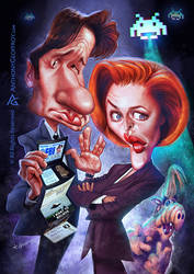 Mulder and Scully and Alf by AnthonyGeoffroy