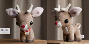 Tiny Reindeer plushie by meplushyou