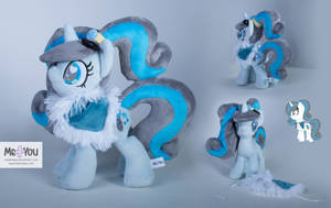 Bubble Blue Pony OC Plushie by meplushyou