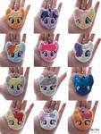 Pony faces! (Plush charms/keyrings/ornaments)