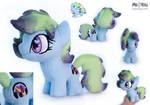 Chibi Pony OC plush Kiwi Shield