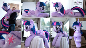 Life sized Twilight Sparkle plush by meplushyou