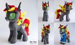Lisa (Changeling/Fallout Equestria OC) plush