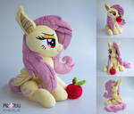 Flutterbat plush with apple