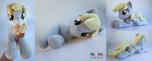 Derpy with muffin lying plush