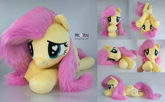 Fluttershy plush with faux fur mane