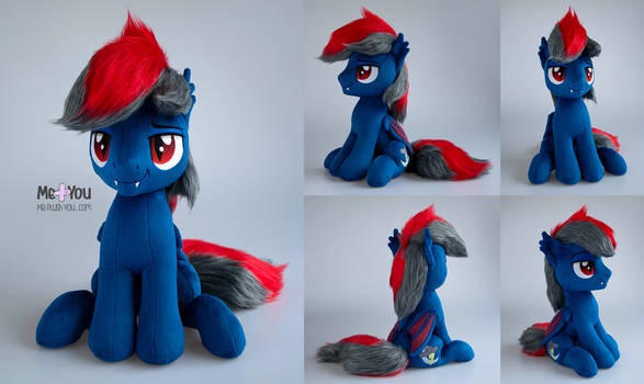 Lightning Moon bat pony plush