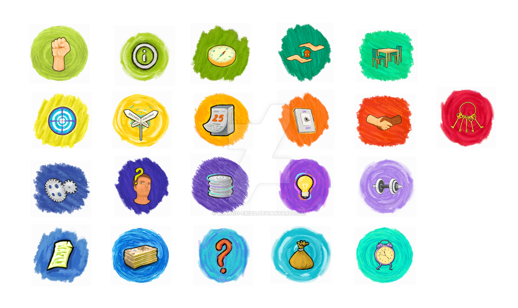 Colorfull icons by blanco-erizo