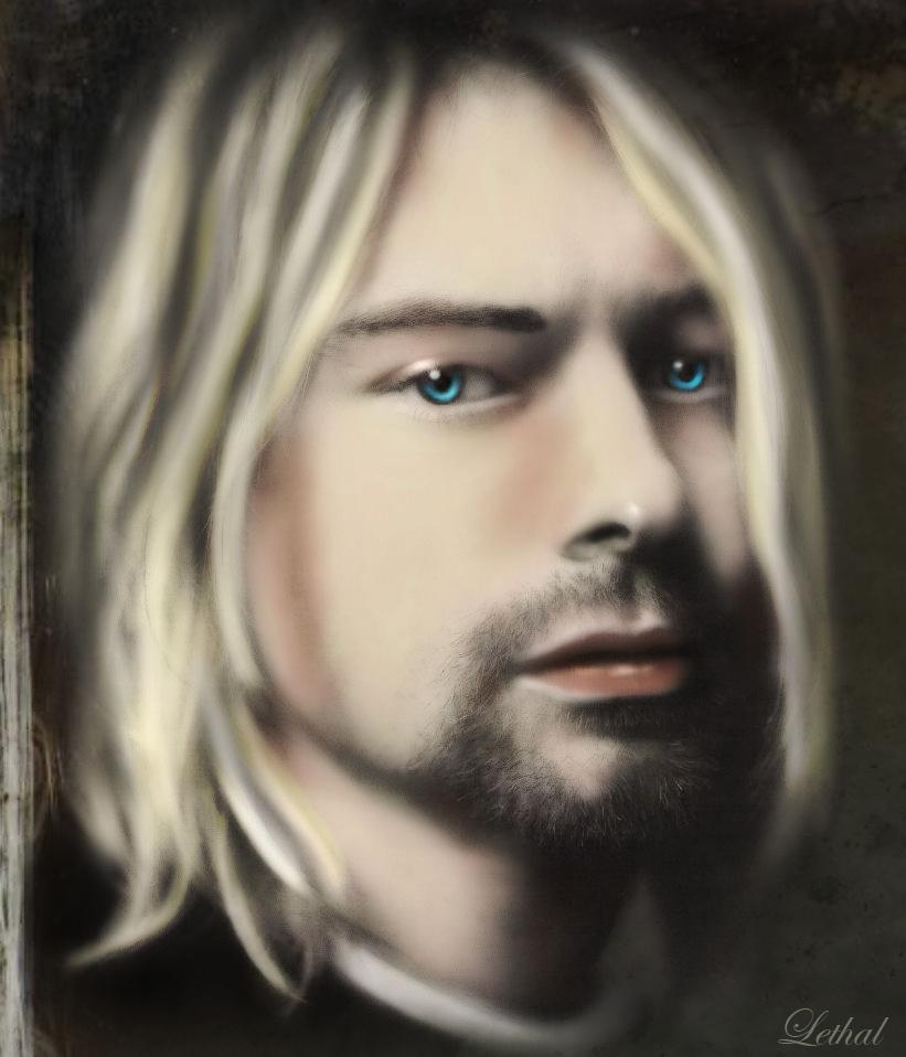 cuatro grandes de la musica (Cobain, morrison, lenon)