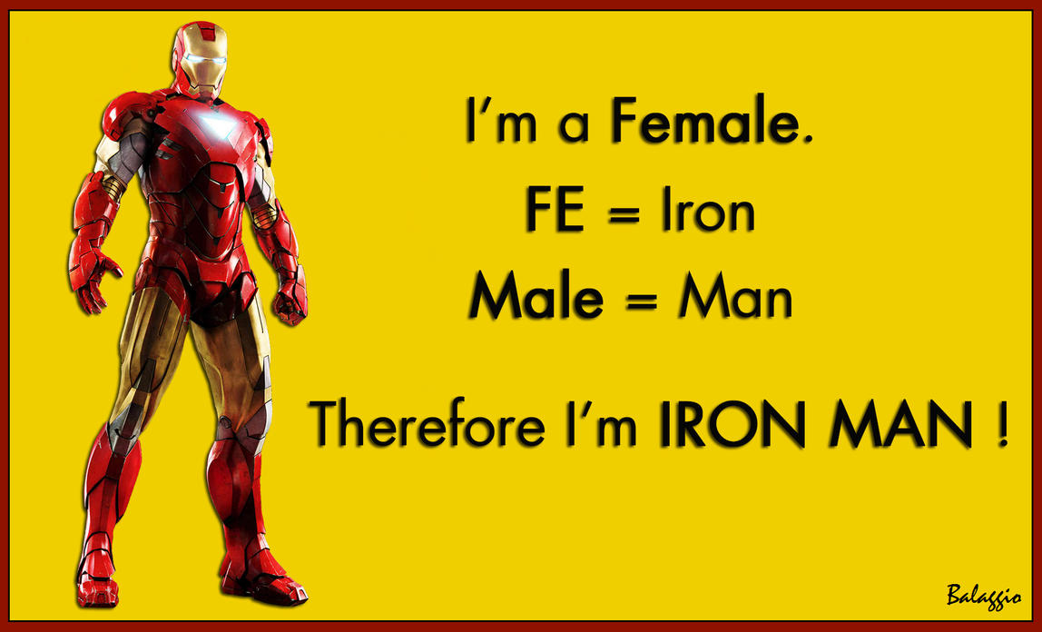 Female = Iron Man by Balaggio