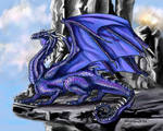 Beautiful Royal Blue Dragon