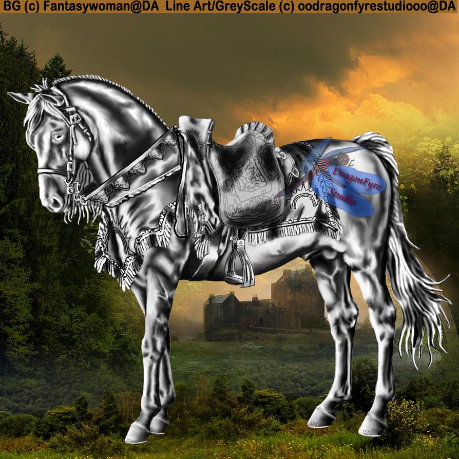 Medieval Horse by DragonFyreStudio on DeviantArt