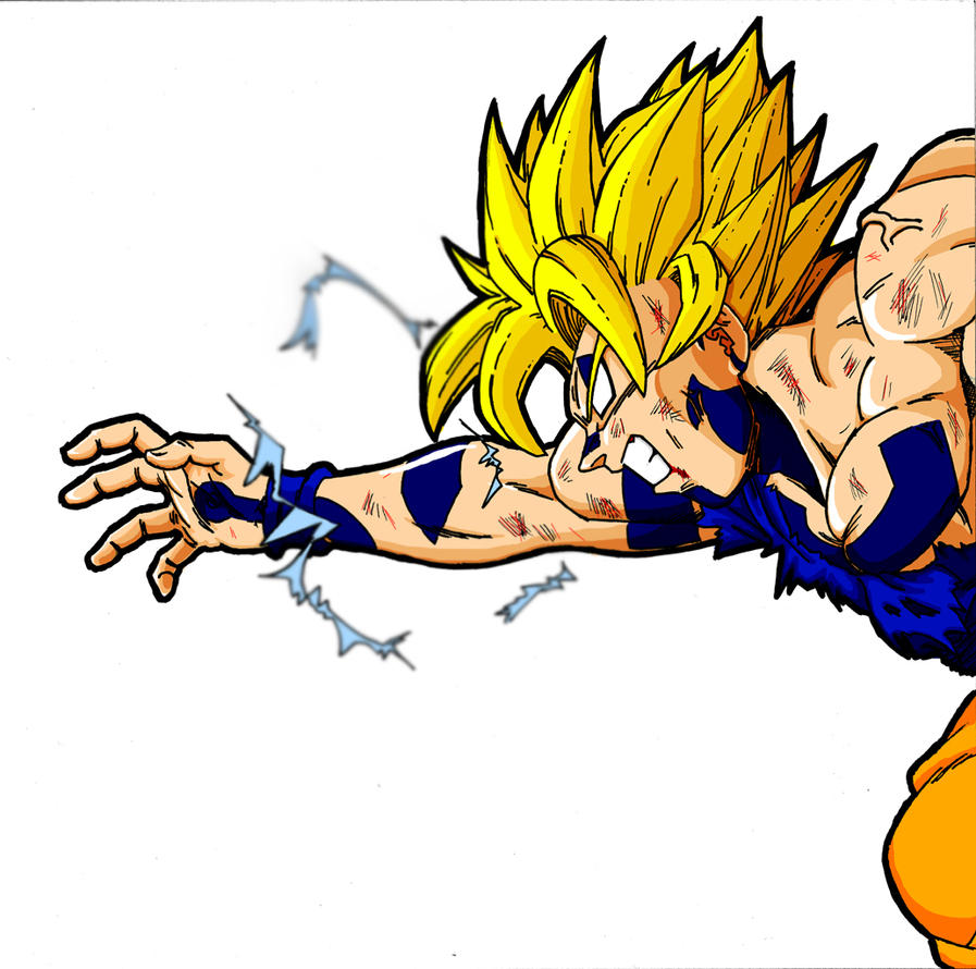 Banner:Evil Battle Damage Goku by Juraikken