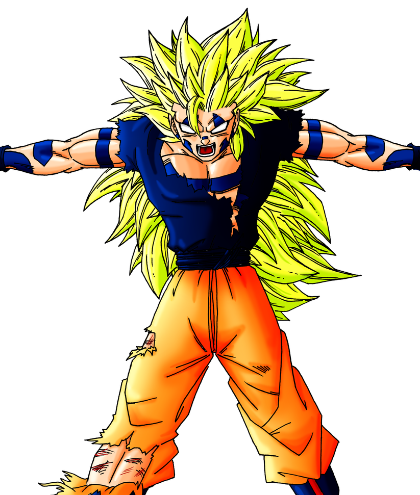 Say 'Hello' to Evil Super Saiyan 3 Goku by Juraikken