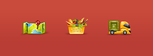 Nearby Grocery icons III by blackblurrr