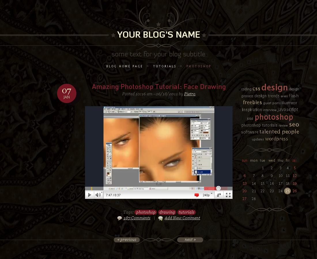 Blog template by blackblurrr