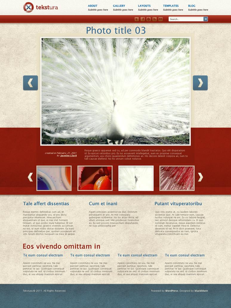Wordpress Template by blackblurrr
