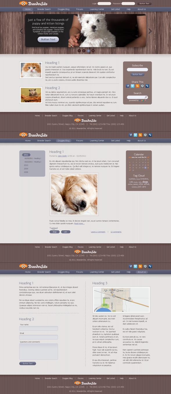 Breeder site template by blackblurrr