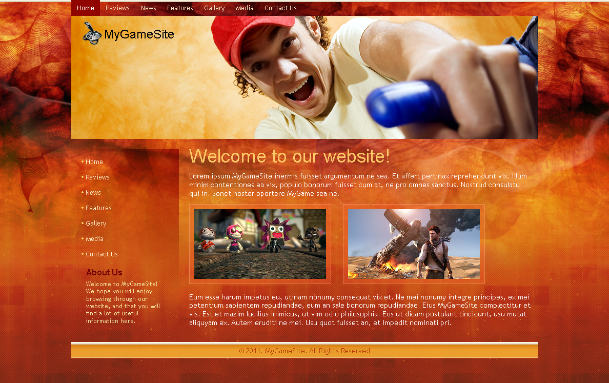 Gamer site template by blackblurrr