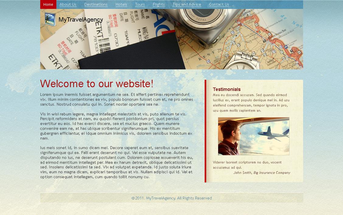 Travel site template by blackblurrr