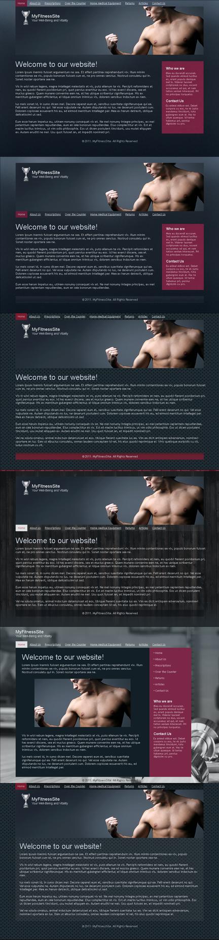 Fitness template by blackblurrr