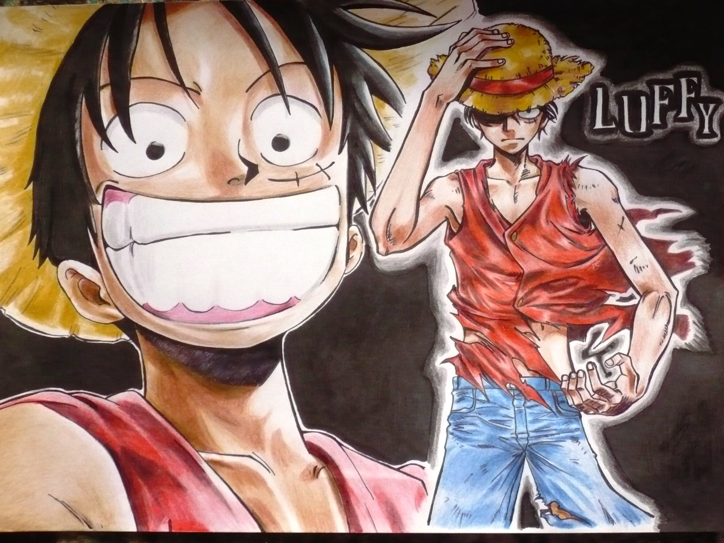 Les fonds d'écran - Page 39 One_Piece__Monkey_D_Luffy_by_Fatee21
