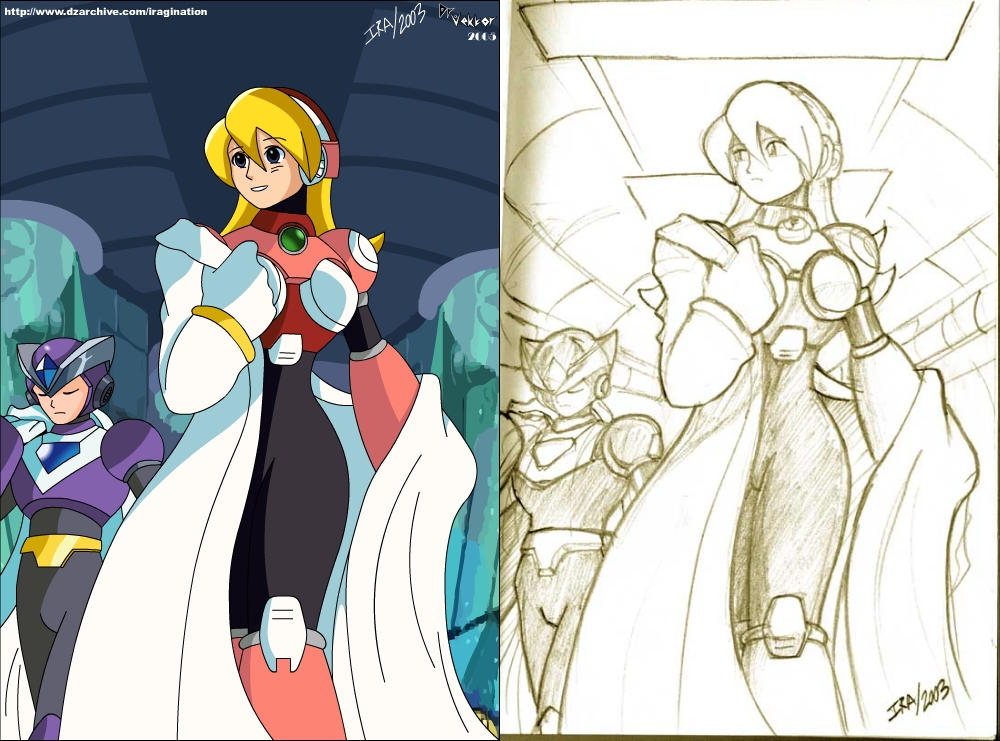 Deviantart Megaman Alia Inflation: Alia And Gate By DrVektorFrankenstein On DeviantArt