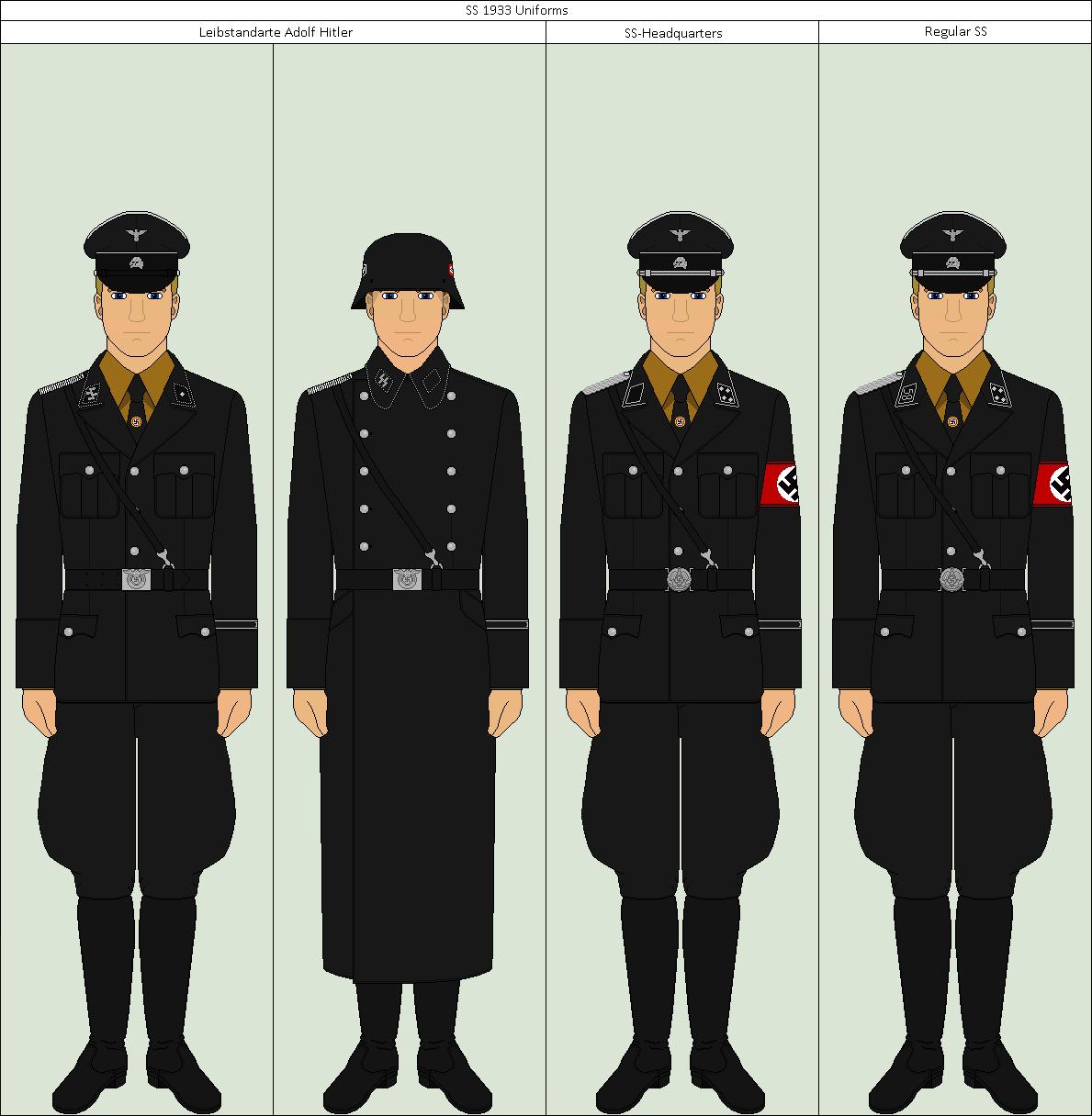 1933 Ss Uniforms By Major Vianna On Deviantart